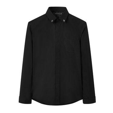 太平鸟 男式衬衫 太平鸟男装2018年秋冬新品风尚系列男士韩版修身衬衫