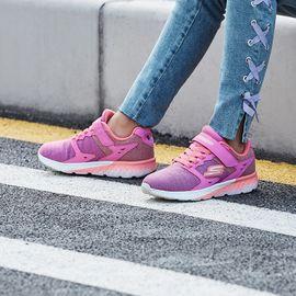 斯凯奇 女童运动/户外鞋 Skechers斯凯奇童鞋 新款动感渐变色魔术贴网布透气休闲鞋女童运动鞋