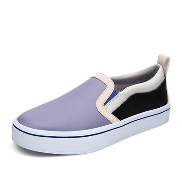 斯凯奇 女休闲鞋 Skechers斯凯奇女鞋新款一脚套小白鞋板鞋 街头懒人休闲鞋