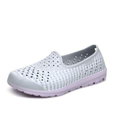 女款运动休闲鞋 Skechers斯凯奇女鞋新款休闲塑模鞋 轻质减震凉鞋洞洞鞋