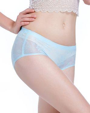 女士内裤 女性感网纱舒适透气无痕中低腰内裤