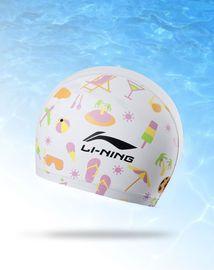 泳帽 青少年PU印花帽游泳帽