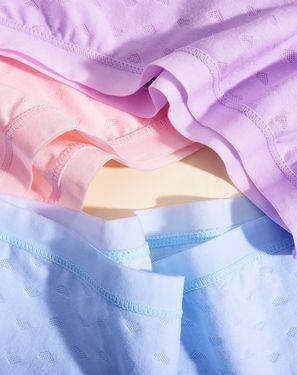 女士内裤 3条盒装 2018夏季新款内裤女印花棉质中腰透气青年包臀可爱学生三角裤女士内裤