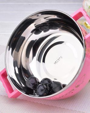婴童餐具 1200ML史努比/SNOOPY双耳泡面碗304不锈钢带盖方便面碗学生宿舍碗