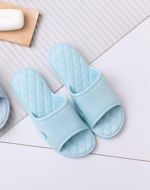 家居拖鞋 缓解足部  菱格气垫防滑浴室拖鞋