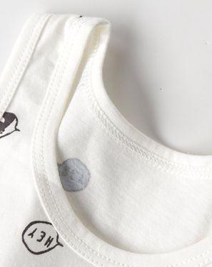 婴幼背心/马甲 婴儿衣服宝宝纯棉背心夏装男女儿童5-24月无袖上衣背心两件装