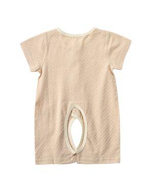 哈衣/爬服/连体服 纯棉婴儿短袖衣服男女宝宝3-18个月夏装开裆连身衣哈衣爬服