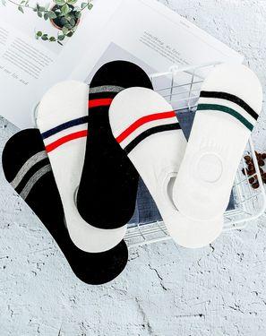 男袜 船袜隐形袜男士袜子 双杠 透气休闲百搭 【5双装】