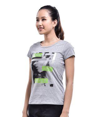 女款运动T恤 透气印花圆领  女款短T恤