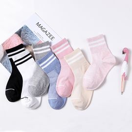 Miiow/猫人 休闲袜子女中筒舒适亲肤透气棉质可爱运动袜5双装