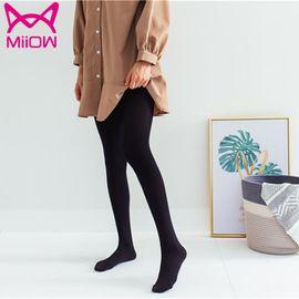 Miiow/猫人 加绒冬季保暖时尚纯色打底连裤袜时尚高腰打底