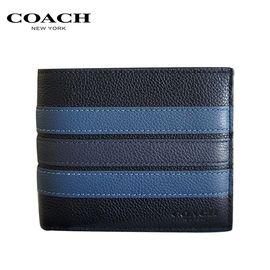 COACH 蔻驰COACH 男士时尚简约款对折卡包钱包 多色可选  洲际速买