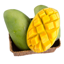 花果鲜  越南进口青皮芒果7斤 单个重200g起 青皮就能吃的芒果