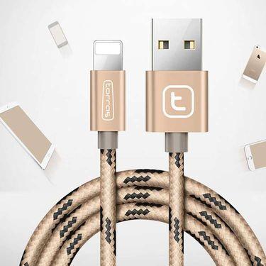 图拉斯 iPhone7数据线苹果6s苹果7P手机快充充电线  金色1.5米 玫瑰金1.5米