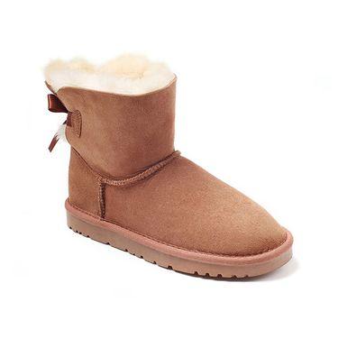 Ozwear UGG 女士低筒单丝带蝴蝶结雪地靴 澳洲直邮 普维香港