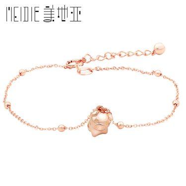 Meidie 美地亚珠宝玫瑰18k金/黄18k金手链项链 金猪-本命年猪猪