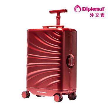 DIPLOMAT 外交官 Diplomat x cowarobot旅行箱跨界合作智能可跟随机器人拉杆箱CW-17R1 磨砂红