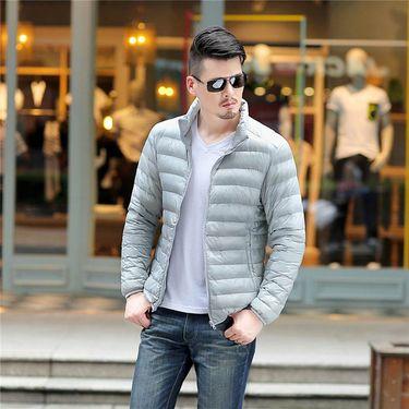 富贵鸟 轻薄男装羽绒服秋冬新款青年立领短款男士羽绒外套