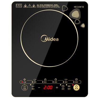 美的MIDEA 电磁炉 触控按键 黑晶面板 八档火力 一键爆炒 定时功能 C21-WK2102