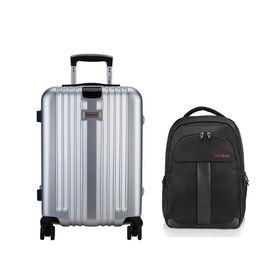 DIPLOMAT 外交官 细框纯pc铝框高档拉杆箱 登机箱 旅行箱YH-17072+新秀丽双肩包