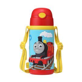 托马斯 双柄软胶吸管背带儿童保温吸管水杯水壶斜跨水壶保温吸管杯儿童水杯 420ml 全积分兑换 元旦特价