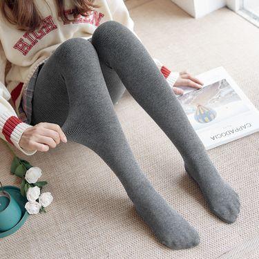 苏吉思 冬季棉竖条纹黑色显瘦加绒加厚打底裤女分层连脚一体裤LP-351