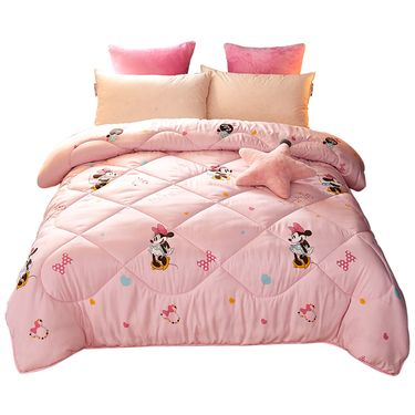 DISNEY 迪士尼卡通儿童床上用品 春秋冬季 七孔纤维被芯-跳舞米妮