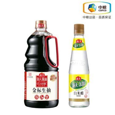 海天 推荐组合:海天 金标生抽1.28L、海天白米醋(瓶装 450ml)