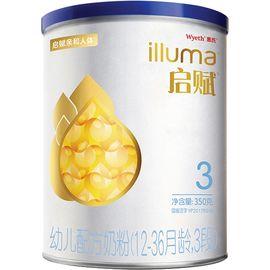 惠氏 (Wyeth illuma)启赋3段婴幼儿配方奶粉350g/克