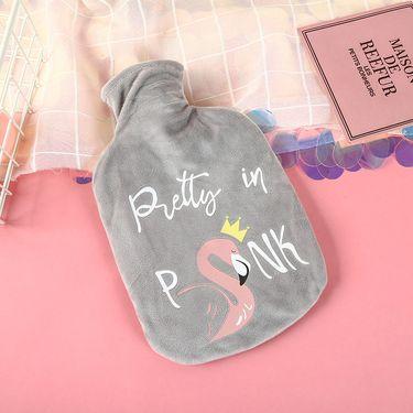 嘉若彤 热水袋注水冲水暖水袋暖手宝毛绒可爱卡通学生宿舍成人大号防爆