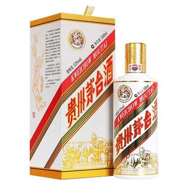 贵州茅台 歌德盈香 飞天茅台 粤五羊 53度 酱香型 白酒 500ml 单瓶