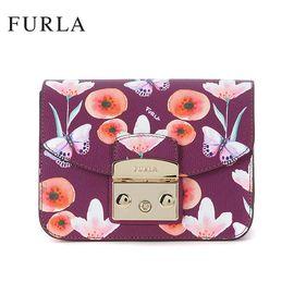 FURLA 芙拉 METROPOLIS系列 潮流明星款链条锁扣包 962541 蝴蝶装饰小方包 洲际速买