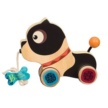 B.  比乐 木制小狗拖拉玩具BX1392Z