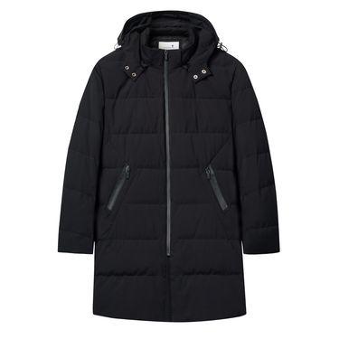 与狼共舞 羽绒服男士连帽中长款2018冬季新款保暖修身男潮羽绒外套66096072110