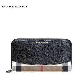 BURBERRY/巴宝莉 BURBERRY女士长款钱包 黑色 洲际速买