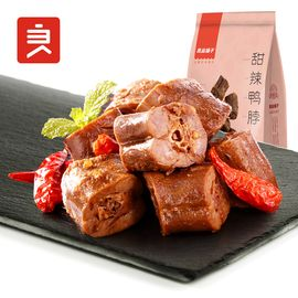 良品铺子 甜辣鸭脖子190g鸭肉卤味休闲熟食小包装麻辣零食小吃