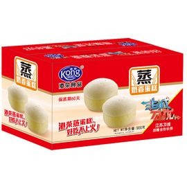 港荣  奶香蒸蛋糕900g整箱早餐代餐糕点休闲零食