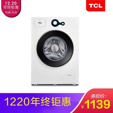 TCL 6.5公斤 全自动滚筒洗衣机 一键便捷中途添衣 智能感知高温自洁除菌
