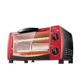 midea 美的 电烤箱 家用 迷你多功能 烘焙蛋糕小烤箱 T1-102D 火红色