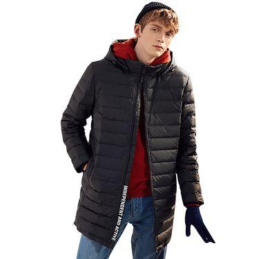 A21 可拆卸帽无缝中长款羽绒服 冬季保暖青年简约休闲男装羽绒外套 4741156001