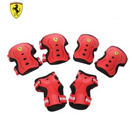 Ferrari 麦斯卡法拉利儿童自行车护具套装安全轮滑行车护肘护膝护手6件套