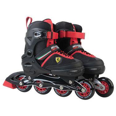 Ferrari 麦斯卡法拉利溜冰鞋儿童全套装男直排轮滑鞋初学者透气旱冰鞋调节