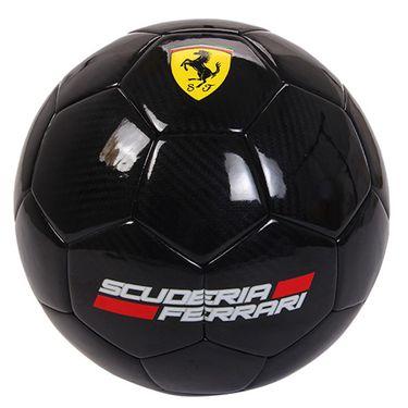 Ferrari 麦斯卡法拉利青少年足球贴皮PU成人5号耐磨比赛训练用球室外草地红色5号足球