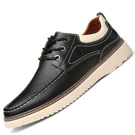 花花公子 真皮运动板鞋休闲鞋男士商务皮鞋韩版潮流百搭男鞋