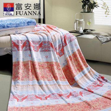 富安娜 FUANNA 休闲亲肤毯航向 法兰绒毯午睡毯保暖儿童毯120*80cm