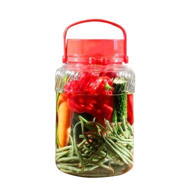 CG GLASS 水晶灵系列 5000ML 大容量手提玻璃 泡酒坛子 腌制罐