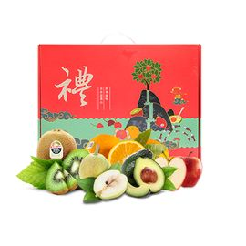 花果鲜 【年货礼盒】水果礼盒A套餐(奇异果+牛油果+加力果+17.5°橙+香梨)
