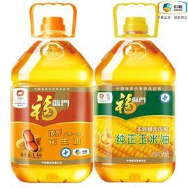 福临门 【领券立减10元】福临门浓香花生油3.5L+纯正玉米油3.5L组合