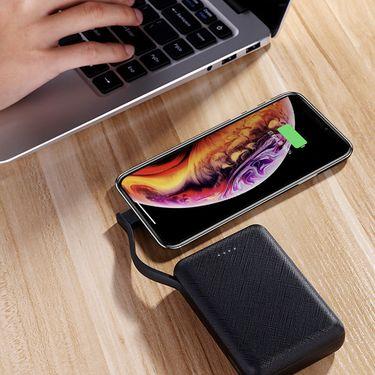 机乐堂 M200新品自带线充电宝适用苹果移动电源 10000毫安便携快充