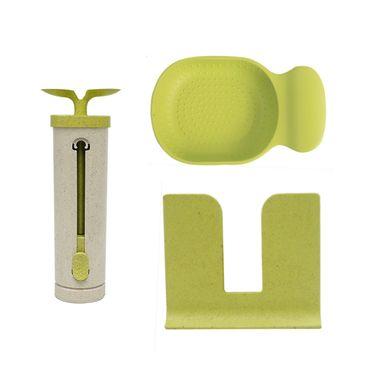 第6金  北欧时尚厨房工具套装 磨蒜碟削皮器刨丝器牙签盒 健康环保小帮厨3件套